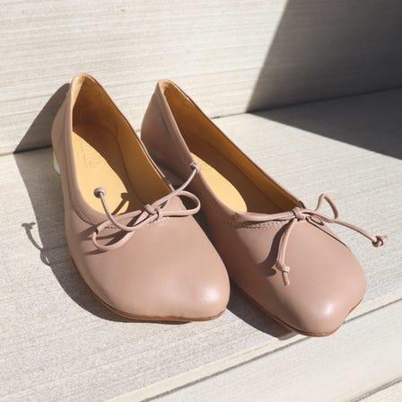 MM6 / MM 6 logo heel ballerina shoes / SIZE:36 37 39