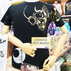 WAMON 剪紙T恤 金色骷髏圖紋