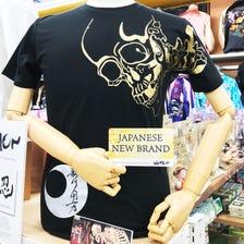 WAMON Cutout gold skull t-shirt