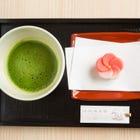 頂級生菓子日式糕點與宇治抹茶組合 職人製作的生菓子日式糕點與宇治抹茶的組合