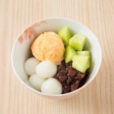 Melon cream anmitsu