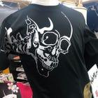 WAMON 切絵 銀色髑髏Tシャツ