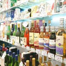 北海道のお酒コーナー (日本酒、焼酎、ワイン、ウイスキー)