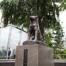 忠犬八公铜像