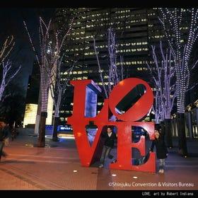 新宿i-Land Tower-LOVE雕塑