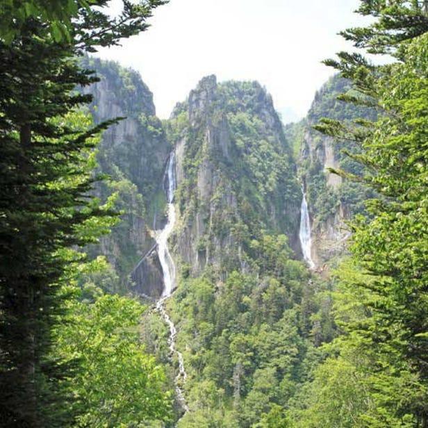 Ginga Falls and Ryusei Falls
