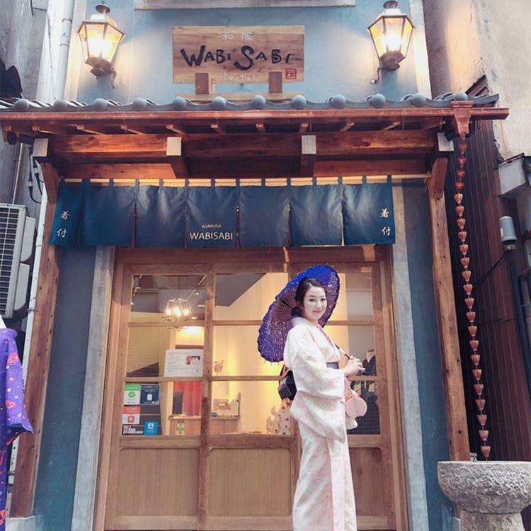 Yukata rental WABISABI Asakusa store