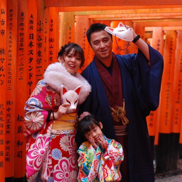 Kimono Rental Kyoto Aiwafuku Fushimi inari Shop