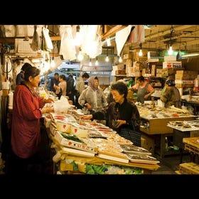Morning Market in front of Mutsu-Minato Station