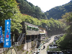千早川マス釣場