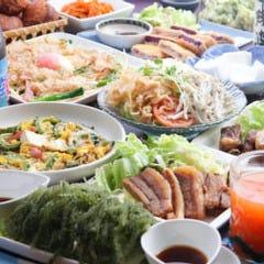 琉球 海と空 ハイビスカス食堂