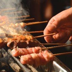 熟成鶏 炭火串焼 鳥むすび(ちょうむすび)