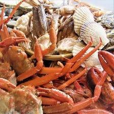 2人で蟹2.5匹付き【海鮮炉端焼】3時間食べ飲み放題4,999円(税込)
