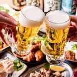 飲放題はビール~カクテル,日本酒,焼酎まで140種類以上の品揃え