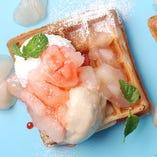 [夏ランチ限定]昼桃ティー/桃ジュレ ミルキー桃クリーム 紅茶アイス
