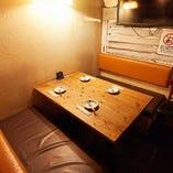 テーブル席半個室(~4名様)