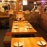【6名~12名様】テーブル席(片側背もたれあり)
