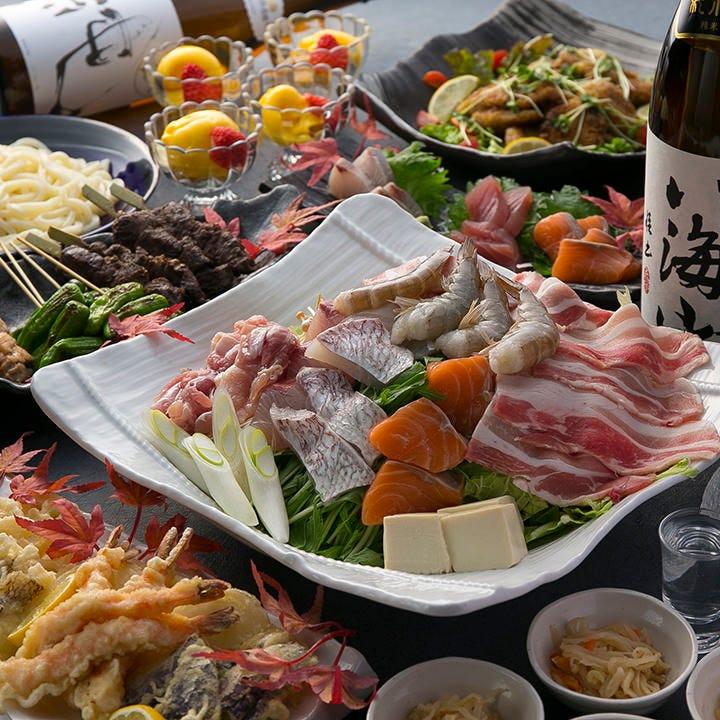 4種類の選べる絶品鍋!宴会コース