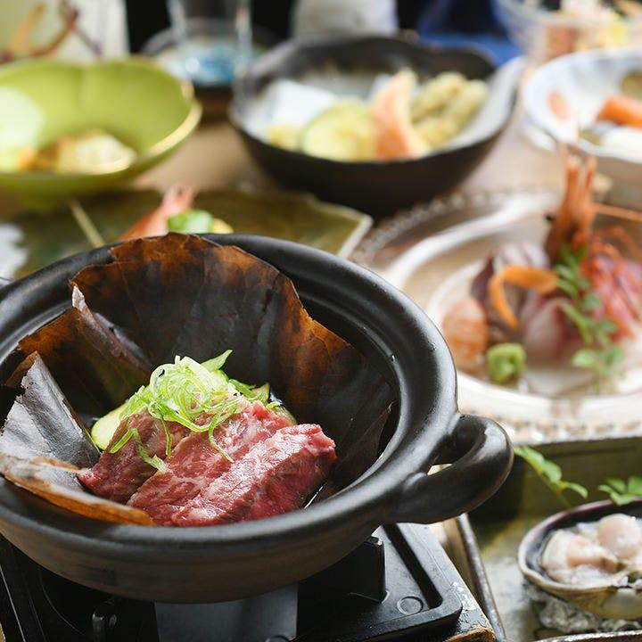 日本料理歴40年以上の料理長と蕎麦自慢の店主による懐石コース