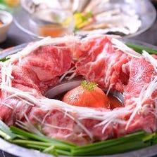 肉炊く鍋付きコースは3850円~ご用意