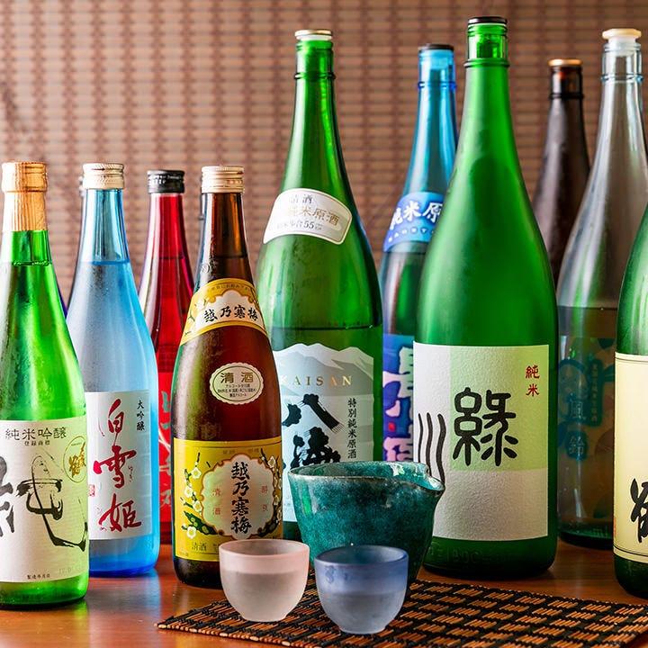 季節に合わせた旬のお酒をご用意。来店する楽しみが生まれます