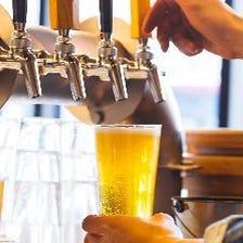 国内の醸造所から週替りの樽生9種類