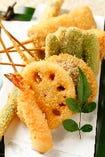 熊本の野菜が盛り沢山 揚げたて1本50円+税~