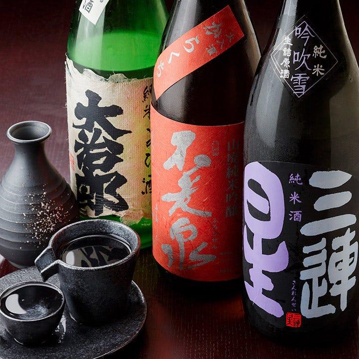 滋賀の美酒を含めた多彩なドリンク
