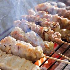 新鮮な鶏を使用した焼き鶏やお刺身