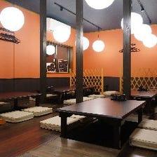 寛ぎの居酒屋空間で和気藹々とお食事