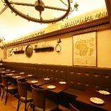 【テーブル席】≪2名様席×10/4名様席×1≫宴会利用可能♪コース料理とご一緒に!