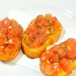 フレッシュトマトとバジリコのブルスケッタ