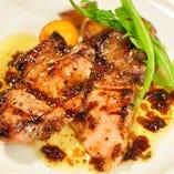 (b)国産豚のグリル バルサミコソース