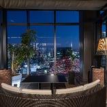 【テラス席(~53名様)】地上125mから梅田の夜景を一望!開放感あふれるテラス席