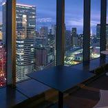 梅田の中心部地上125mの最上階で本格イタリアンを堪能