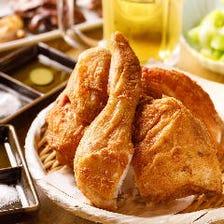 築地「鳥藤」の 丸鶏の素揚げ