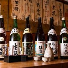 豊富に揃えた蕎麦に合う日本酒