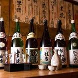 蕎麦に合う日本酒を豊富に取り揃えております。