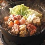 人気の鶏すき鍋!