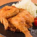 若鶏半身の五泉揚げ(カレー・ガーリック・旨塩)