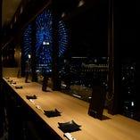 【記念日・誕生日・デート】におすすめシート♪…No.3【窓側横並びカウンター席】全4席