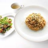 牡蠣とポルチーニ茸のクリームリゾット