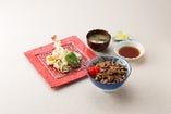 【セット】ジンギスカン丼&天ぷらセット