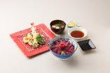 【セット】鉄火丼&天ぷらセット
