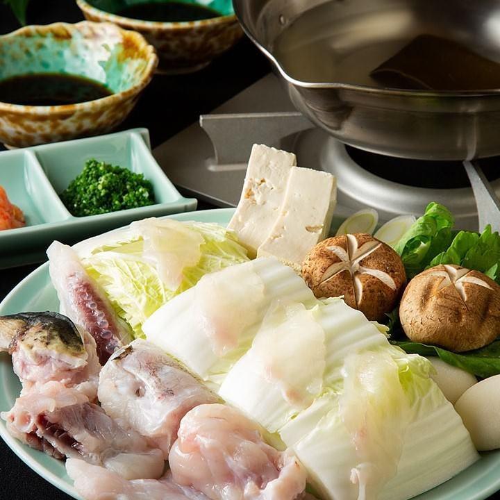 自慢のふぐちりに〆の雑炊まで絶品
