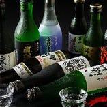 地元の喜多屋など多数の日本酒を置いております