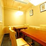 落ち着いた雰囲気のテーブル席個室(8~10名様)