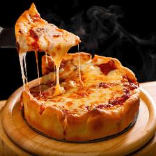 石窯で焼き上げる本格シカゴピザ