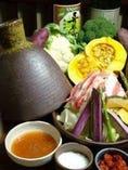 タジン蒸し鍋自家製トマトポン酢で