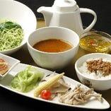 クロレラ入り中華つけ麺(辛口)